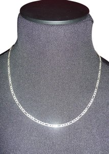 Figaro Chain Sterling Silver Necklace