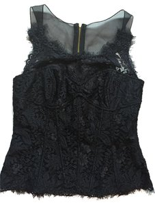Leifsdottir Lace Mesh Lined Top Black