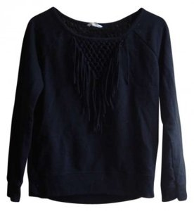 Preload https://item2.tradesy.com/images/american-eagle-outfitters-black-fringe-sweaterpullover-size-4-s-160031-0-0.jpg?width=400&height=650