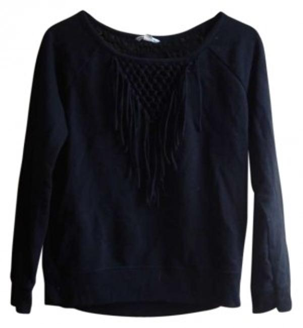 Preload https://img-static.tradesy.com/item/160031/american-eagle-outfitters-black-fringe-sweaterpullover-size-4-s-0-0-650-650.jpg