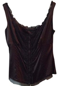 Elie Tahari Top Black/Brown