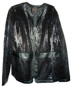 Dana Buchman Textured Croco Black Jacket