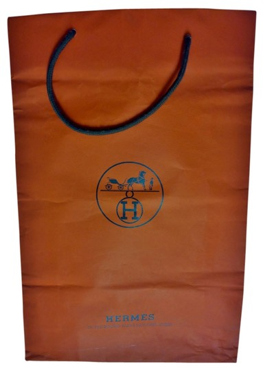 Hermes Shopping Logo Tote in Hermes Orange