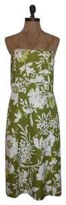 Ann Taylor Floral Strapless Sheath Dress