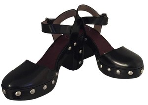 Marc by Marc Jacobs Studded Leather Closed Toe Black Platforms