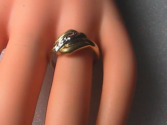 Vintage 14k Yellow Gold Diamond Cut Band Ring Image 3