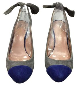 Sole Society Nordstrom Brand Kid Suede Purple & Gray Pumps