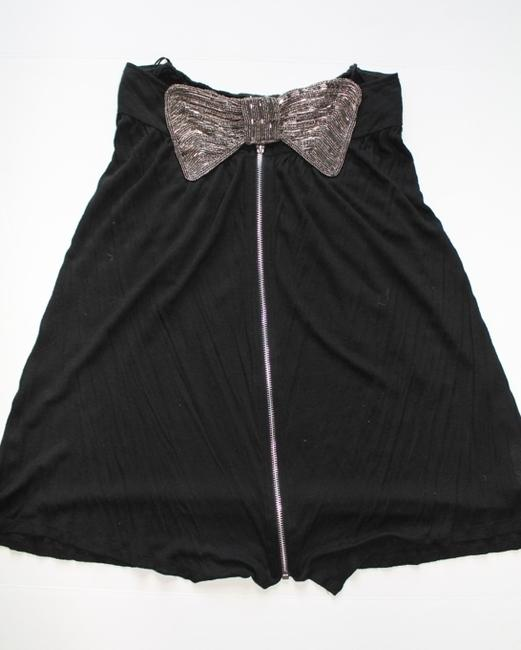 Topshop Strapless Beaded Bow Dress