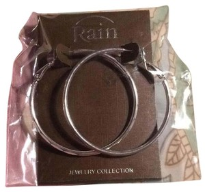 Rainforest Silver Hoops