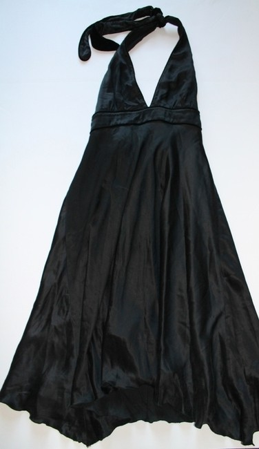 To the Max Knee Length Halter Velvet Silk Dress