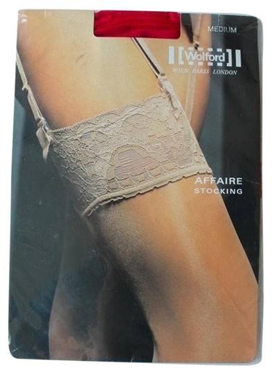 Wolford Wolford Fire Red Thigh High Tights