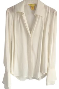 Catherine Malandrino Button Down Shirt Ivory