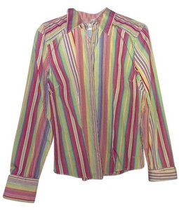 Tommy Hilfiger Striped Ladies Button Down Shirt multi