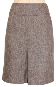 H&M Pleated Skirt BROWN