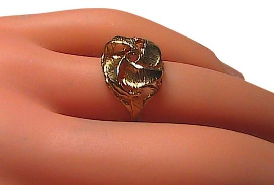 Vintage 14k Yellow Gold Flower Ring