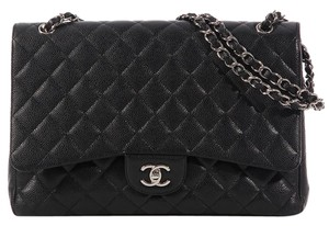 Chanel Cc Quilted Ch.k0422.04 Caviar Shoulder Bag