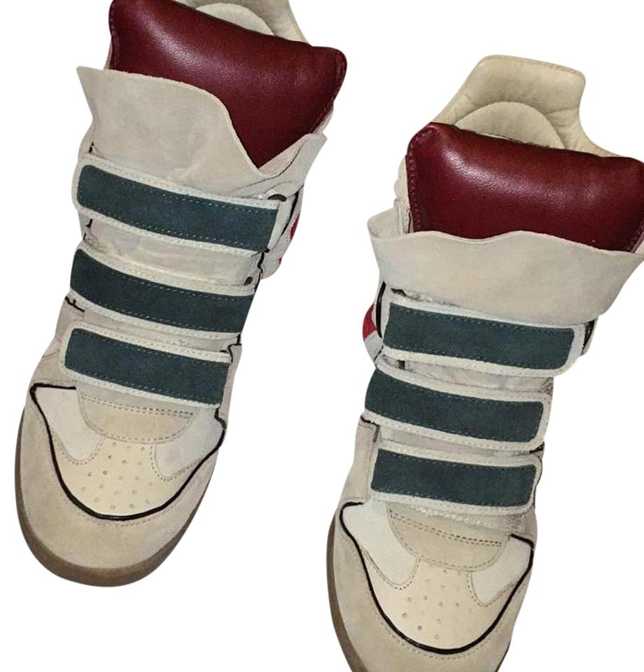 c87724d4b78a Isabel Marant Multicolor Suede Wedge Sneakers Sneakers. Size  US 8 ...