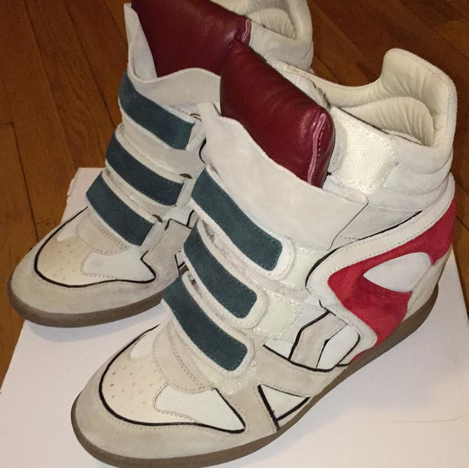 1af0f0131f2a Isabel Marant Multicolor Suede Wedge Sneakers Sneakers Size US 8 Regular  (M