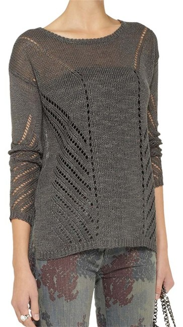 Elizabeth and James Pointelle Relax Fit Long Sleeve Lightweight Sweater