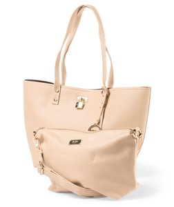 BCBG Paris Tote in Stone / Black