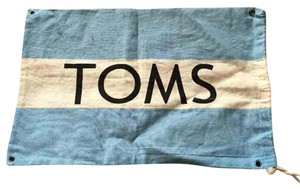 TOMS Blue And White Diaper Bag