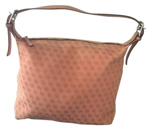 Dooney & Bourke Leather Fabric Shoulder Bag