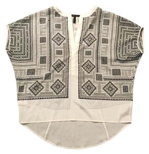 BCBGMAXAZRIA Bcbg Tunic Bohemian Top Black, white