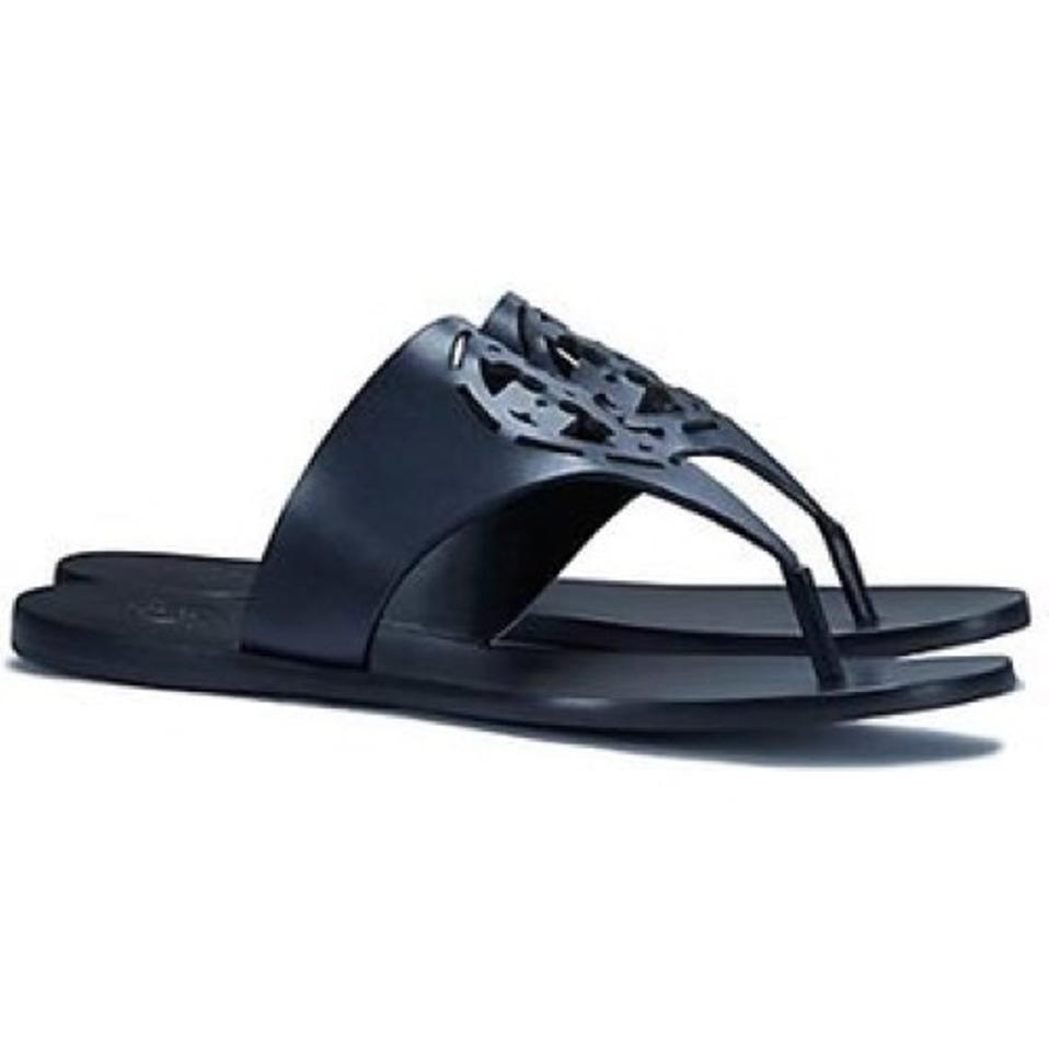 5f6eadb5b80 Tory Burch Navy Zoey Thong Sandals Size US 9.5 Regular (M