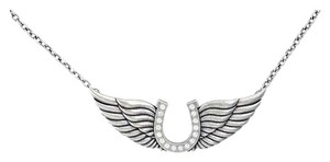 Montana Silversmiths Horseshoe and Angel Wings Necklace