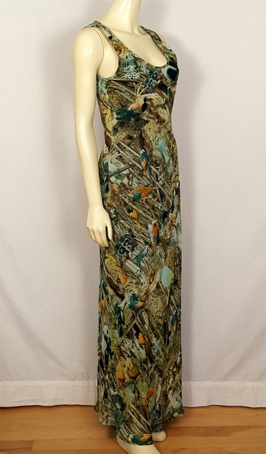 multi-colored Maxi Dress by Sunny Girl Forest Animal Image 1