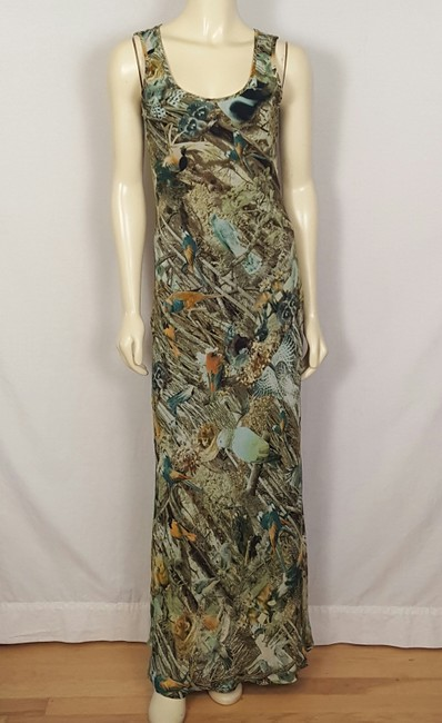 multi-colored Maxi Dress by Sunny Girl Forest Animal Image 10