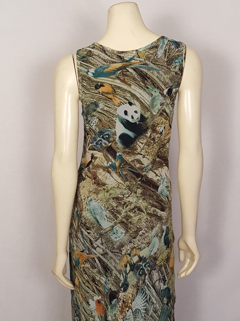 multi-colored Maxi Dress by Sunny Girl Forest Animal Image 8