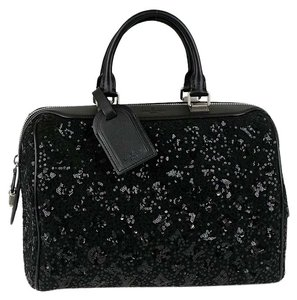 Louis Vuitton Satchel in Sunshine Express Black Sequin Wool