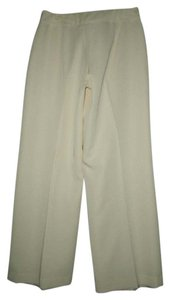 Metro Style Sheen Sharp Crease Flawless Trouser Pants Ivory