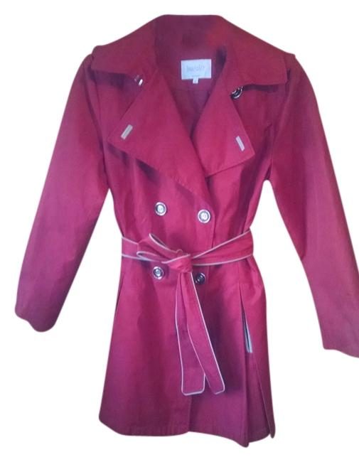 Laundry by Shelli Segal Pleated Trench Coat