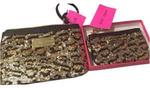 Betsey Johnson Wristlet in Black And Gold