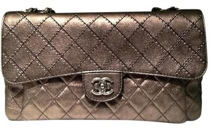 Chanel Vintage Quilted Leather Cc Push Lock Closure Shoulder Bag