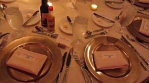 Michaels Champagne Gold Chargers Tableware
