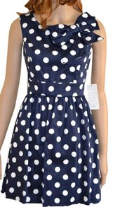 Modcloth short dress Navy polka dot on Tradesy