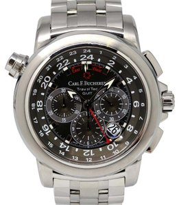 Carl F. Bucherer Bucherer Patravi Traveltec GMT Chronograph Stainless Steel Watch