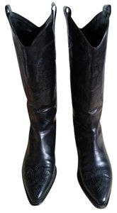 Joan & David Vintage Couture Embossed Black Boots