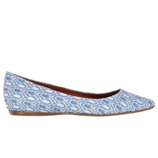Missoni Crochet Pointed Toe Leather Textured Ballet Pastel Blue Flats Image 1