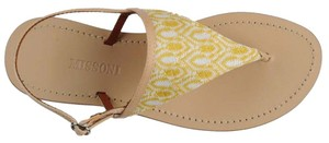 Missoni Crochet Leather Textured Yellow Flats