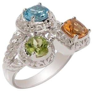 Victoria Wieck Victoria Wieck 2.05ct Multigem Sterling Silver Scrolled Frame Ring - Size 6