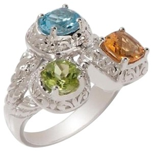 Victoria Wieck Victoria Wieck 2.05ct Multigem Sterling Silver Scrolled Frame Ring - Size 7