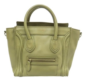 Céline Celine Nano Luggage Tote Satchel in olivegreen