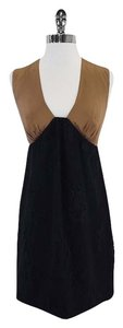 Tibi short dress Brown & Black Silk Sleeveless on Tradesy