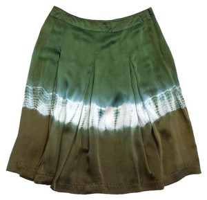 Max Mara Green Brown Silk Skirt Pants