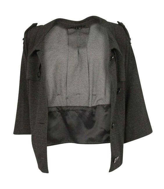 Theory Charcoal Cropped Trench Grey Jacket Image 1