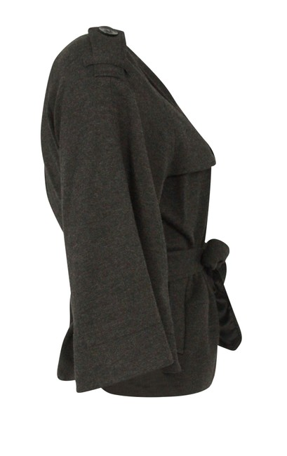 Theory Charcoal Cropped Trench Grey Jacket Image 2